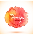 Red watercolor isolated stain vector image