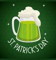 saint patrick day beer vector image
