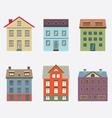 Set Of Vintage Building vector image