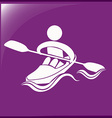 Sport icon for kayaking vector image