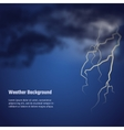 storm weather BG vector image