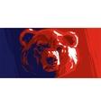 Abstract angry bear vector image vector image