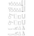 Chemical utensils white vector image