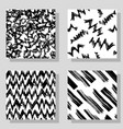 Collection monochrome grange seamless textures for vector image