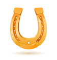golden horseshoe on white background for design vector image