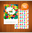 nature rainbow leaves leaves abstract background vector image