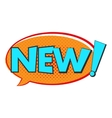 New comics icon vector image