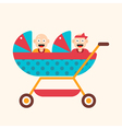 Twins in Carriage vector image