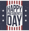 Happy Presidents Day patriotic Background vector image