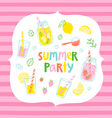 Summer party card vector image