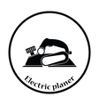Icon of electric planer vector image vector image