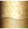 Abstract gold background with curve and stripes vector image
