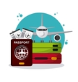 colorful travel icon over white background vector image