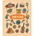 Doodle about Mexico vector image