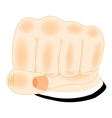 Fist of the person on white vector image
