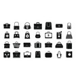 handbag icon set simple style vector image