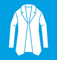 jacket icon white vector image