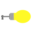 Light bulb with key and keyhole vector image
