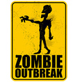 Zombie Outbreak vector image