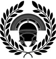 roman helmet stencil third variant vector image
