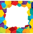 Colorful Border from Cubes vector image