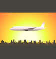 summer flying airplane vector image