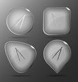 Caliper Glass buttons vector image