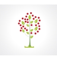 Abstract apple tree flat icon Logo element for vector image