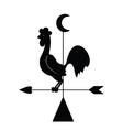 rooster weathervane vector image