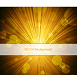 Abstract background with sunshine and half vector image