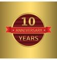 Anniversary 10 years vector image