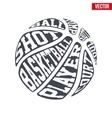 Ball sports symbols of basketball with typography vector image