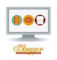 Blogger design vector image