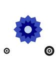 Cornflower simple geometric logo vector image