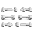 metal bolts and nuts vector image