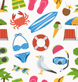 Summer Beach Seamless Pattern vector image