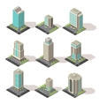 Isometric Office Buildings Set vector image vector image