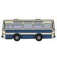 retro line bus vector image