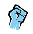 fist stylized icon revolution concept vector image vector image