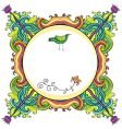 curly frame vector image vector image