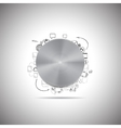 Metal button with other doodle design elements vector image