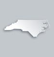 Map of North Carolina vector image