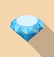 Flat Icon of Diamond with Long Shadow vector image