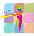 Sport icon for baseball vector image