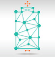 Battery Network vector image