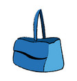 blue purse handle case handbag icon vector image