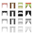 curtains lambrequins ralets and other web icon vector image