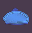 flat shading style icon golf beret vector image