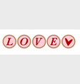 love typewriter key vector image