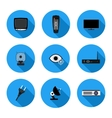 set of flat icons TV vector image